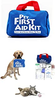 Pet First Aid Kit for Dog Cat, 88 Piece Emergency Survival Bag for Pets, Animals, Perfect for Home Outdoor Hiking Camping Emergencies, FDA Approved, Pet Friendly