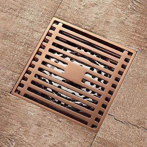 PIJN Bodenablauf Deodorant Insect Repellent Rose Gold-Fußboden-Abfluss-Platz (Color : Metallic, Size : 100x100x45mm)