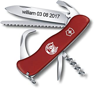 Personalized Swiss Army Knife Engraved - Victorinox Equestrian Matt Red 111 mm