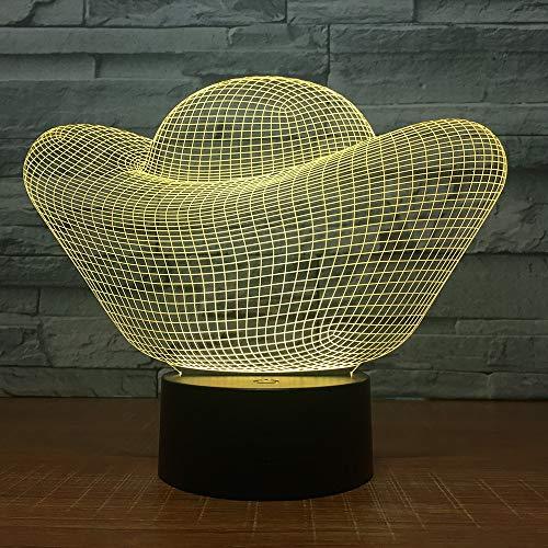 Goldbarren Geld 3D Led Lampe 7 Farbe Led Nachtlichter Touch Usb Tisch Nachtlicht für Geschäftsbeziehung Schiff Geschenk