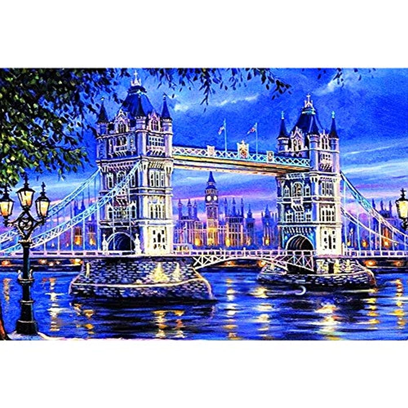 DIY Embroidery Bridge Castle 5D Full Drill Diamond Painting Cross Stitch Craft Kit Wall Stickers for Living Room Decoration nmkvnqdzkgn053