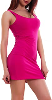 Toocool Vestito Donna Miniabito Canotta Lunga Tubino Corto Fascia Elastico Nuovo CC-1246