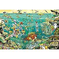 パズル1000ピース木製のジグソーパズル子供アダルト - 大人ティーンすべてのピースのための海底バトル大型パズルゲームのアートワークは完全に一緒にユニークなフィットです (Size : 1000pieces)
