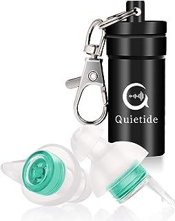 【最新デザイン睡眠用耳栓!】Quietide 耳栓 安眠 防音 遮音値31dB 睡眠 飛行機 仕事 勉強 水洗い可能 繰り返し使用可能 携帯ケース付き 一年保証 日本語説明書付 Q4 グリーン