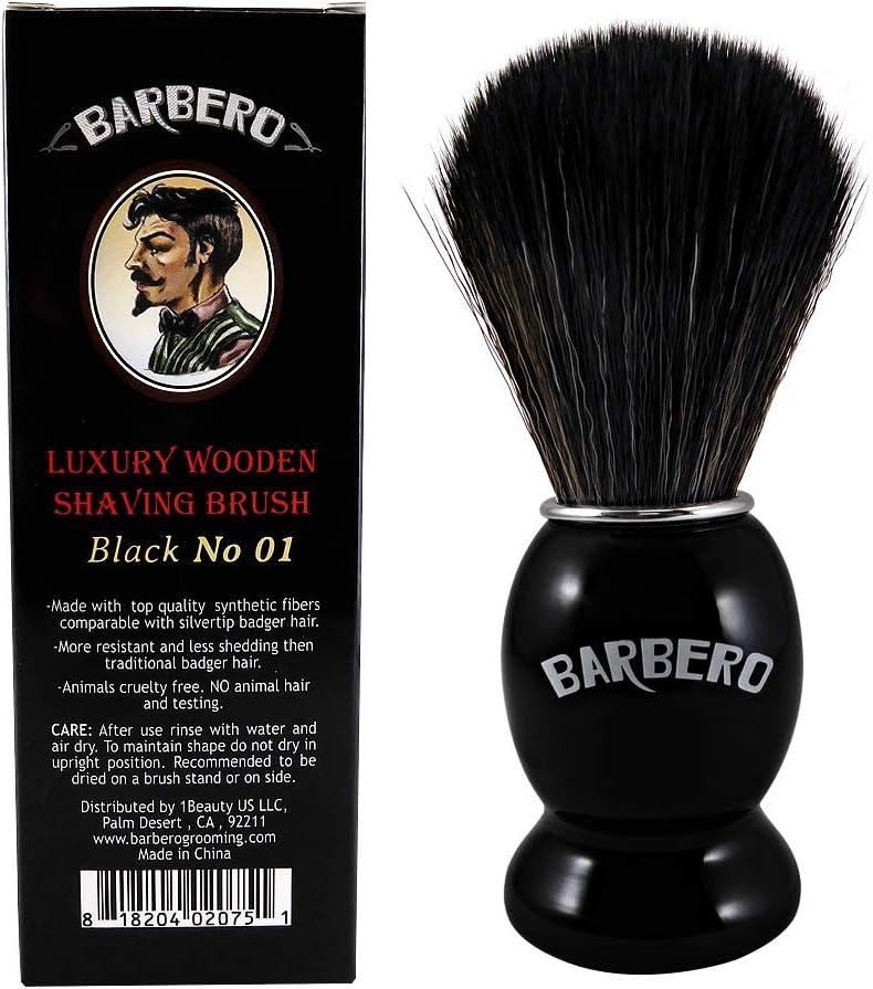 Barbero Luxury Sale Wooden Shaving No Brush Sale price Black 01