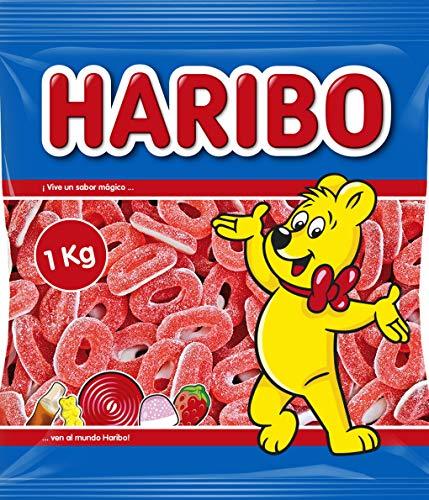 Haribo - Aros fresa - Caramelo de goma - 1 kg