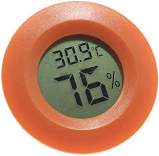 Robluee - Termómetro Digital Redondo LCD Reptile termómetro higrómetro Temperatura probador para Lagarto araña Tortuga terrario
