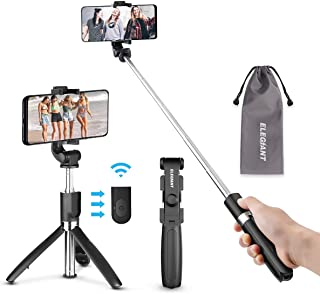 ELEGIANT Selfie Stick Tripod Bluetooth, Extendable Monopod Selfie Stick Tripod Stand with Wireless Remote for iPhone 11 11 Pro X XR XS MAX 8 7 6 Plus, Galaxy S9 S8 Plus Note8, Huawei and More