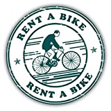 Rent A Bike Grunge Stamp Vinyl Decal Bumper Sticker/Pegatina