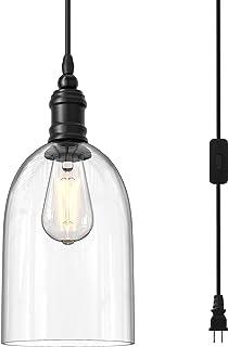 WINSOON 1 PC Pendant Light Fixtures Hanging Plug in...