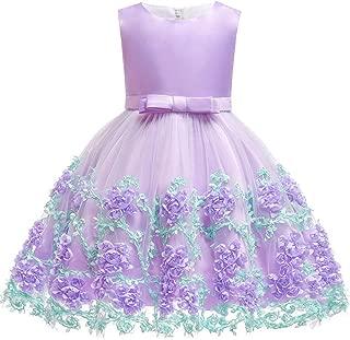 Áo quần dành cho bé gái – Baby Kids Birthday Princess Party Dress for Toddler Girls Flower Children Bridesmaid Elegant Dresses Clothes
