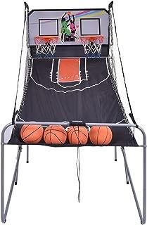GYMAX Electronic Basketball Game, Double Shot Basketball Arcade Game 2 Players with 2 Rims 4 Balls