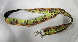 DOBERMAN PINSCHER Dog Breed Ribbon Lanyard/Keychain/Badge Holder w/Metal Charm