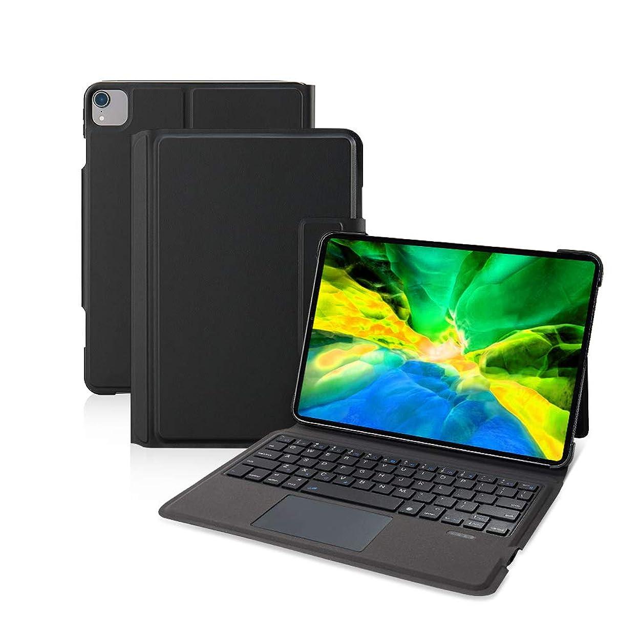エンゲージメント秀でる群がる【iPad Pro 11インチ通用】Ewin? 新型 iPad キーボード付き ケース タッチパッド搭載 一体式Bluetoothキーボード 超薄型 ipad pro 11 第1世代/第2世代対応 保護カバー 日本語説明書付き (ブラック)