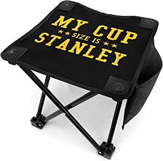 My Cup Size is Stanley Portable Folding Stool Camping Stool Folding Chair for BBQ,Camping,Fishing,Travel,Hiking,Garden