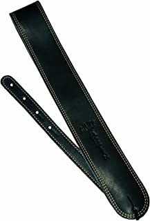 Martin Ball Glove Leather and Suede Guitar Strap - Black