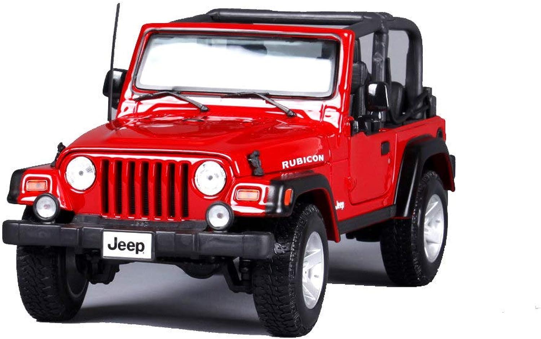 Web oficial LUCKYCoche 1 18 Jeep Wrangler Modelo de Coche de de de aleación de simulación Niños Juguetes Niños fundición de Regalo de cumpleaños Mini Coche simulación (Color  Rojo)  tomamos a los clientes como nuestro dios