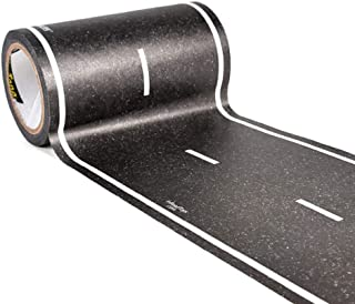PlayTape Black Road 30x4 - Road Car Tape Great for Kids, Sticker Roll for Cars and Train Sets, Stick to Floors and Walls, Quick Cleanup, Children Toys and Birthday's (30 Feet, 4 Inches - Single Roll)