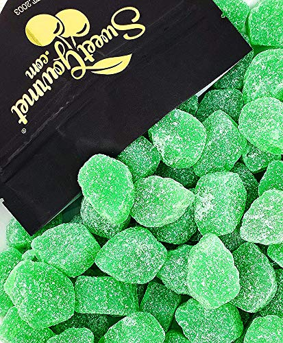 SweetGourmet Jelly Spearmint Leaves Candy Slices   2.5 Pounds