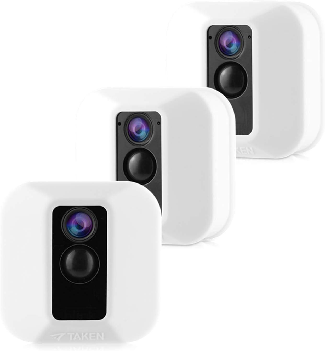Tyrone Schutzhülle Aus Silikon Kompatibel Mit Blink Xt Kameras Camouflage Schutzhülle Für Blink Xt Outdoor Home Security Kamera Zubehör Weiß 3 Stück Elektronik