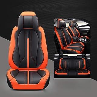 Lyfsxjzqr Cojín automóvil Asiento del Asiento Automóvil Protector Cubiertas del cojín del Asiento Respaldo Almohadilla Respaldo Transpirable Asiento del automóvil (Color : Orange)