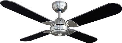 Bestron DCF42BR Ventilateur de plafond Noir/Gris Argent 60 W 220 V