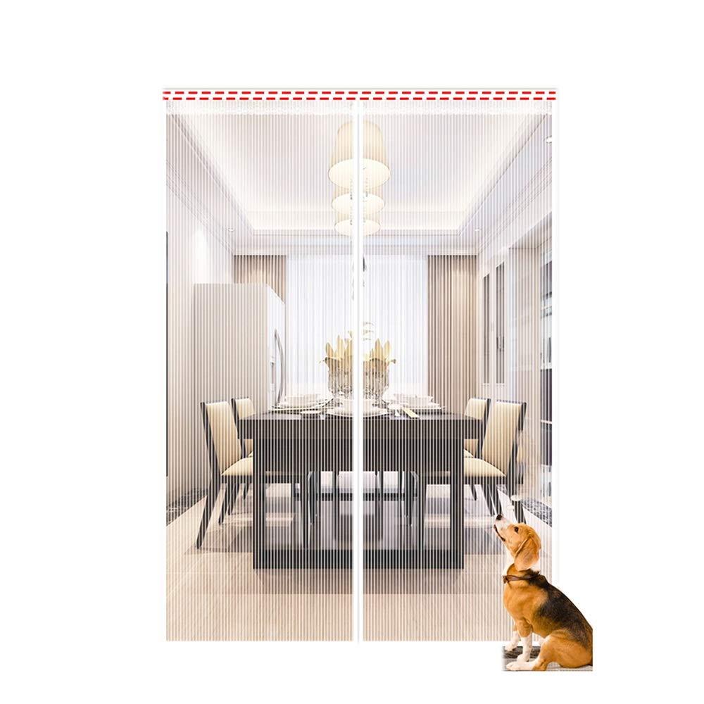 心理学彼女自身降伏HANSHAN マグネット式玄関網戸カーテン アップグレードされたスクリーンドア、防蚊ネットドア、防風デザイン、簡単には屋内、屋外のために再利用、キッド&ペット可、マグネット付き網戸、(200x240cm)することができますインストールするには (Color : C, Size : 100×240cm)