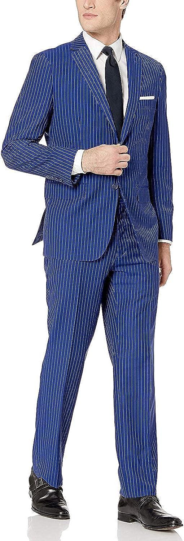 Adam Baker Men's Modern Fit 100% Wool Two-Piece Notch Lapel Suit