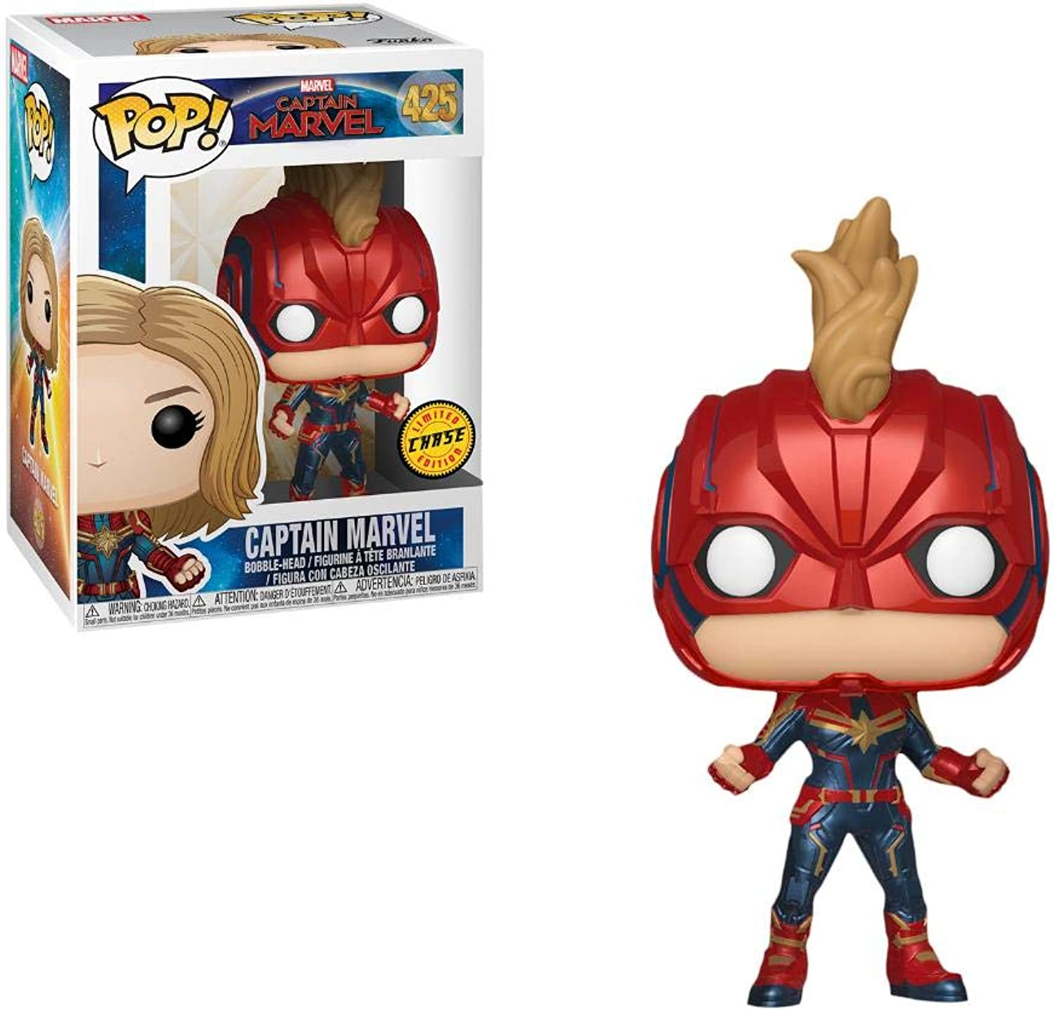 costo real Funko Pop Capitan Marvel 425 Chase Cocheol Danvers Miss Figura Figura Figura 9 cm Cinema Film  2  mejor servicio