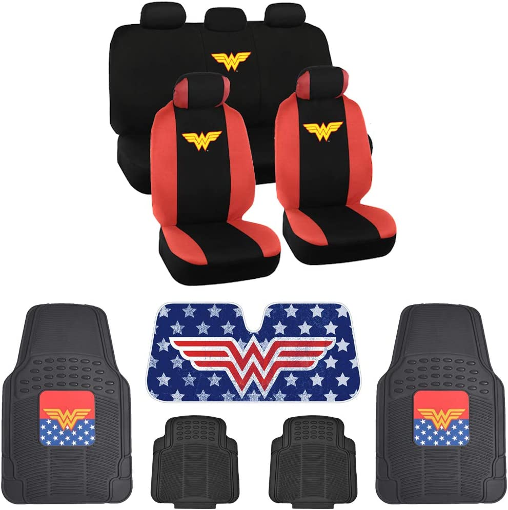 Wonder Woman Front Rear Car Seat Covers Sales Portland Mall and Floor Mats Rubber