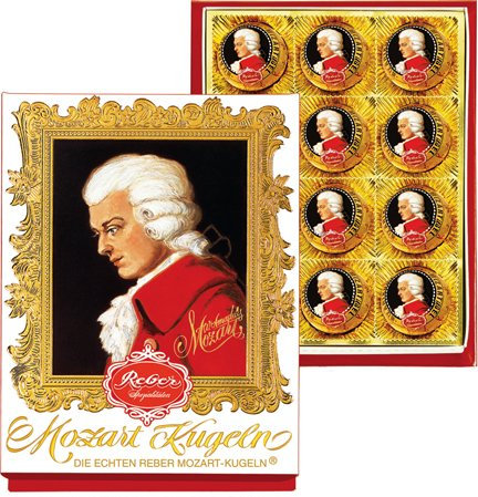 Reber Mozart Kugel - Medium Portrait Box