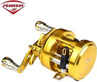 PRO BEROSドラムフィッシュホイールCAシリーズフルメタル12軸ドラムホイール海水道サブ水滴ホイールフィッシングリール (色 : CA101)