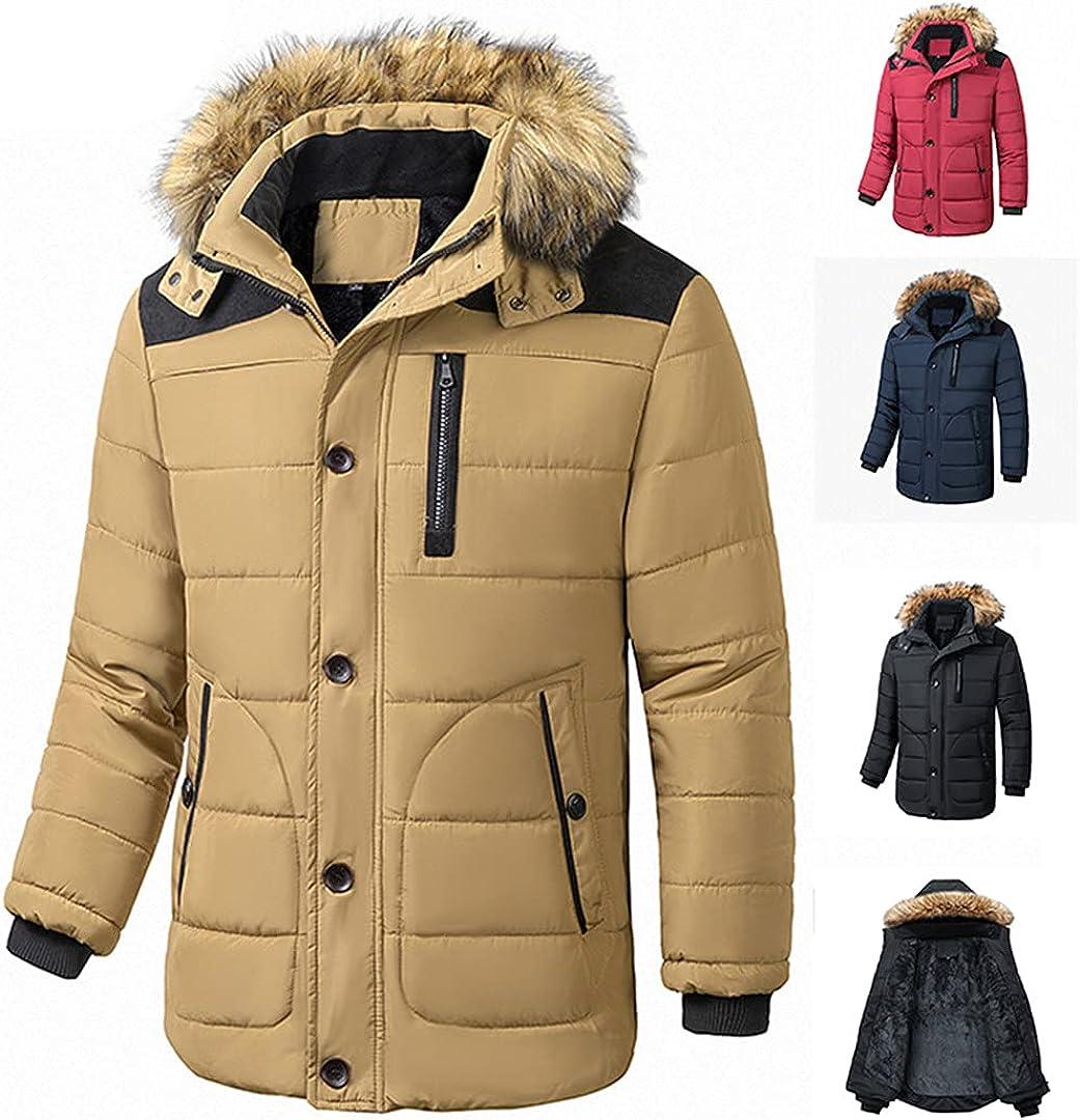 Men Winter Thick Fleece Warm Jacket Parkas Autumn Windproof Hooded Casual Parkas Jacket