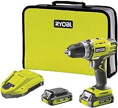 Ryobi R14DDE-LL15S drill Negro, Verde 1,4 kg - Taladro eléctrico (1,3 cm, 1,3 cm, 3,2 cm, 45 Nm, 400 RPM, 1450 RPM)