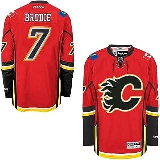 Reebok Calgary Flames #7 T.J. Brodie Premier Jersey