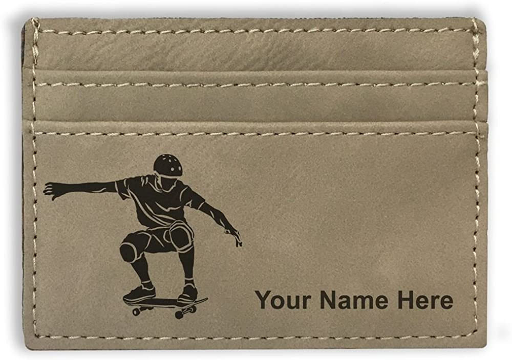 Money Clip Wallet, Skateboarding, Personalized Engraving Included