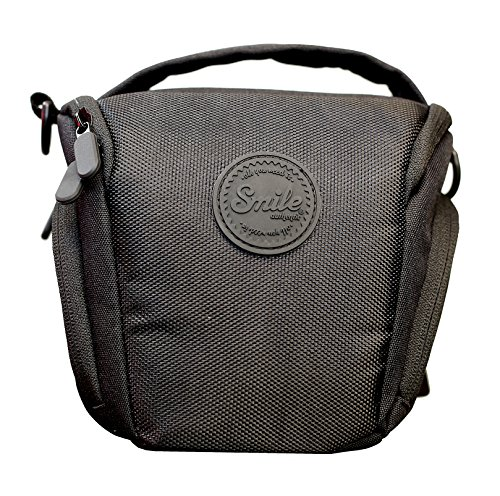 Smile - Bolsa Holster para Cámaras Fotográficas DSLR y Réflex - Ideal para Cámaras Réflex con Objetivo Básico Tipo Kit, Negro