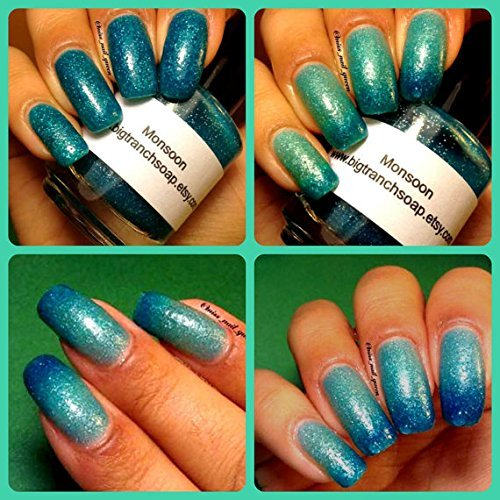 Ombre Color 1 year warranty Changing Thermal Polish Nail Large special price -