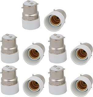 uxcell 10pcs B22 to E14 Extender Adapter Converter Lamp Bulb Socket Holder White