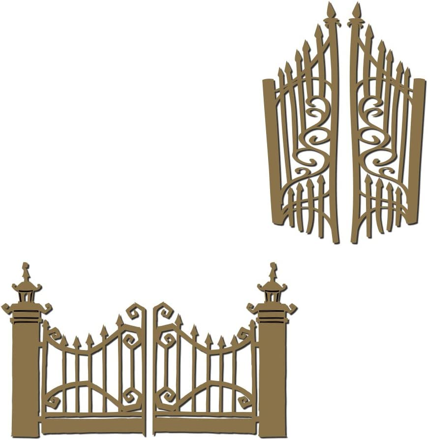 Halloween Gates - Laser Cut and Chipboard 4 Engraved Beauty products Louisville-Jefferson County Mall Piece Set
