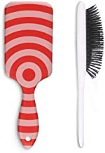 Red Target Hair Brush Hair Styling Brush or Comb Detangling Brush No More Tangle Professional Salon Styling Brush for All Kind Of Hair for Man and Women