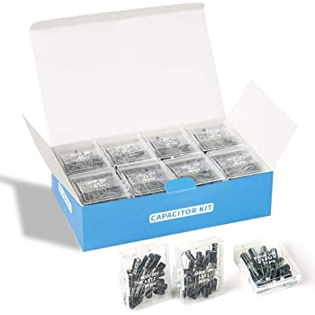 REXQualis 24Value 696pcs Electrolytic Capacitor Assortment Kit Range 0.1uF-1000uF, 10V 16V 25V 50V