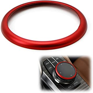 iJDMTOY 1pc Aluminum Ring For BMW 1 2 3 4 5 6 7 Series X3 X4 X5 X6 Center Console iDrive Multimedia Controller Knob (Fit A...