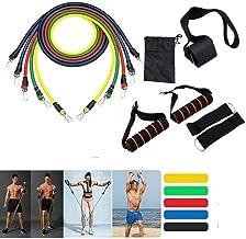 XWXBB weerstandsbandenset Expander Fitness 5 oefenbanden handgrepen deuranker enkelriem en draagtas