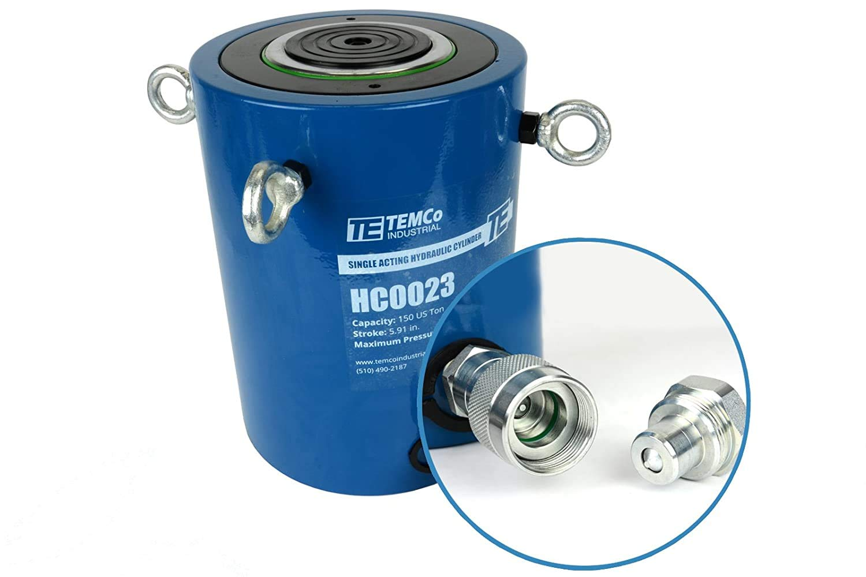 TEMCo HC0023 - Hydraulic Cylinder Ram Many popular brands Acting 150 TON Single 6
