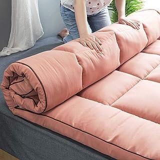 LYBFNN Futon Colchón Tatami Plegable Algodón Ecológico Memory Colchón con Correas Terten Espuma Japonés Tradicional Colchón Futón Antideslizante,E:Pink,90x200cm