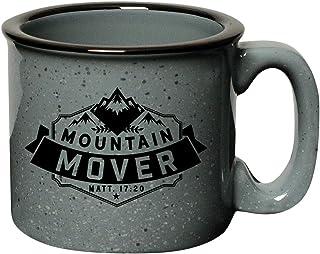 Coffee Tea Soup Ceramic Mug   Mountain Mover Matt. 17:20   15 ounce Designer Mug with Inspiring Sentiment   Dishwasher and...