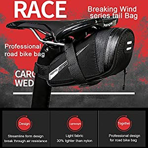Roswheel Bicicleta Bolsas, Bolsas para sillines/Bolsas para Bicicletas/Bolsas de Ciclismo/Paquete de Asiento de La Bicicleta para de la Bici del Camino(0,6L)