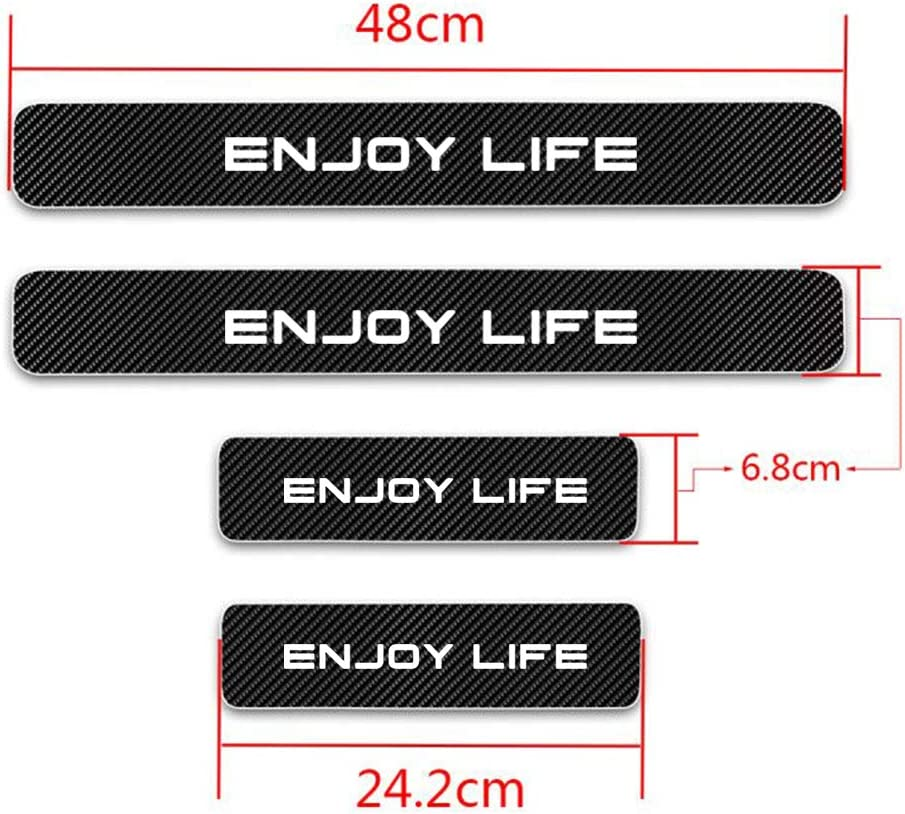 Universal White For Celoster Accent Cerna Elantra I20 I30 Door Sill Protector Strips,Carbon Car Sticker Protector Anti Abrasion Scratch Entry Guard Scuff Plate Door Guard