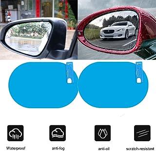 Auto-R/ückspiegelfolie Anti-Wasser-Anti-Beschlag-Spiegelfolie f/ür Auto Regenfeste wasserdichte R/ückspiegelscheibe Klare Folie Transparent 100x145mm